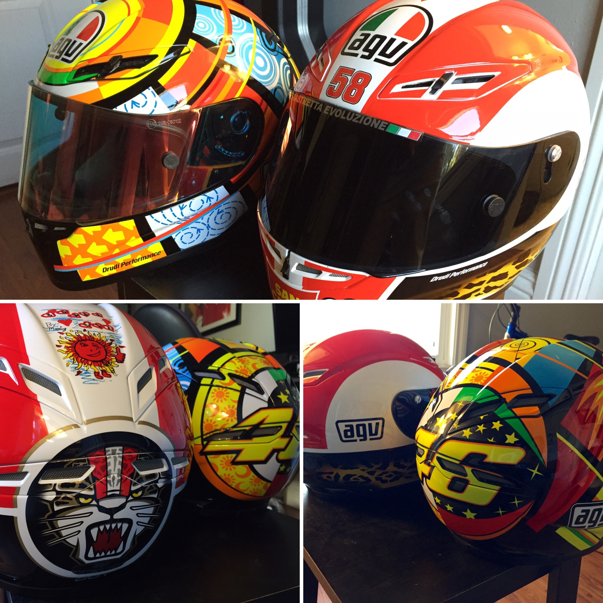 Agv Gp Tech Valentino Rossi Elements Tales From The Pilot Seat Of A Ducati Sportclassic